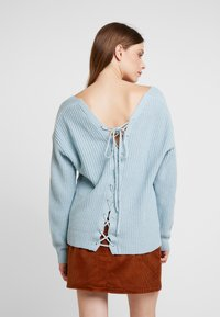 Nly by Nelly - V BACK LACE UP - Pullover - blue - 2