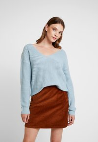 Nly by Nelly - V BACK LACE UP - Pullover - blue - 0