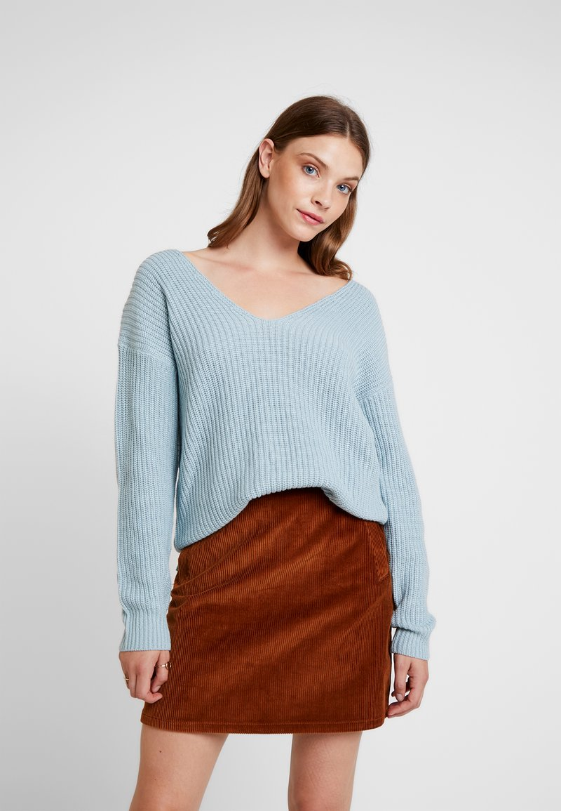 Nly by Nelly - V BACK LACE UP - Pullover - blue