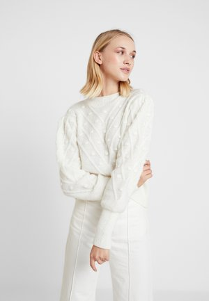 DECORATED PUFFY - Jumper - white