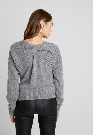 TWIST UP BACK - Jumper - grey mel