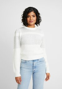 Nly by Nelly - SPARKLING DREAM KNIT - Jumper - white - 0