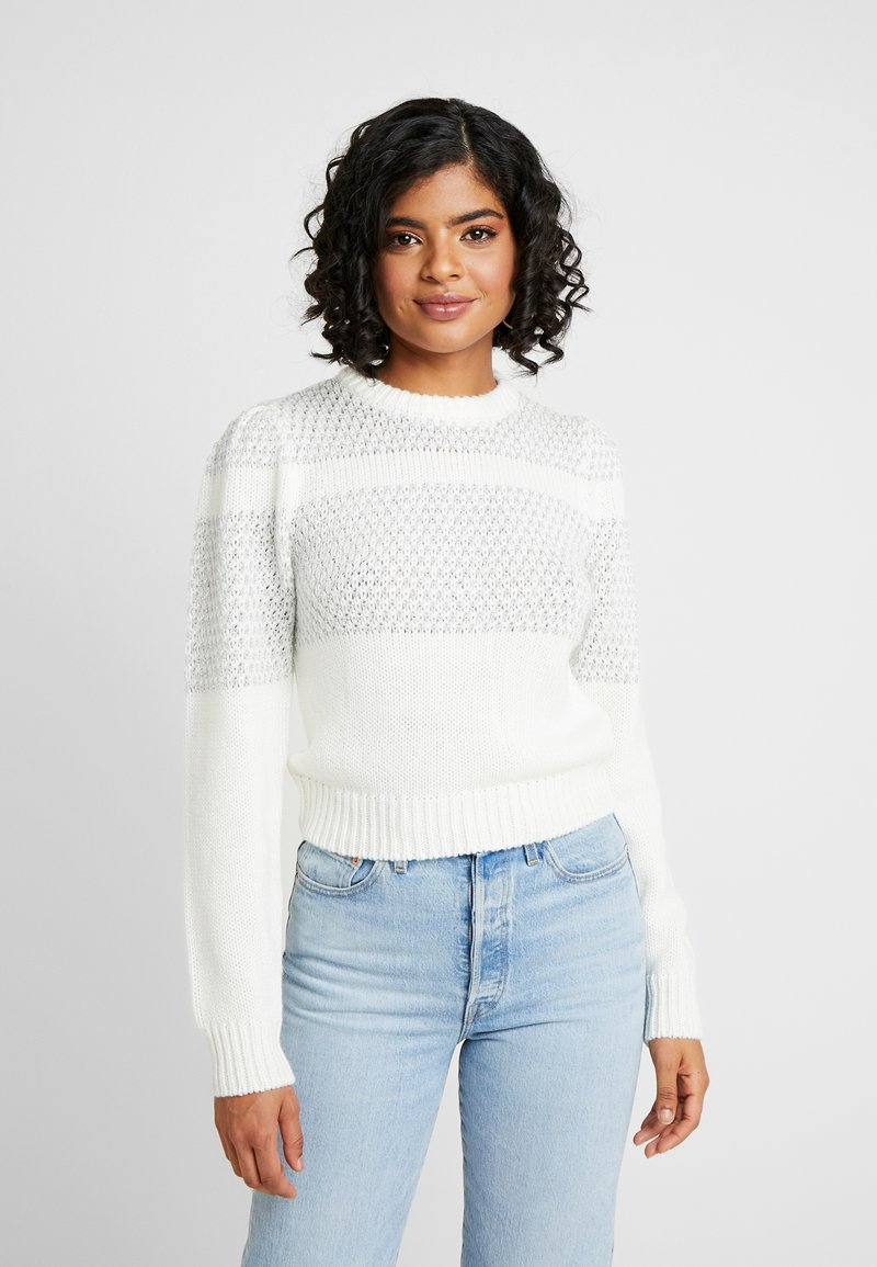 Nly by Nelly - SPARKLING DREAM KNIT - Jumper - white