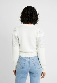Nly by Nelly - SPARKLING DREAM KNIT - Jumper - white - 2