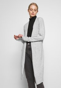 Nly by Nelly - EASY LONG CARDIGAN  - Cardigan - grey mel - 0