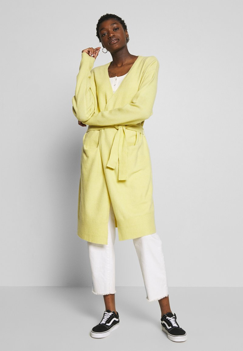 Nly by Nelly - EASY LONG CARDIGAN  - Cardigan -  yellow