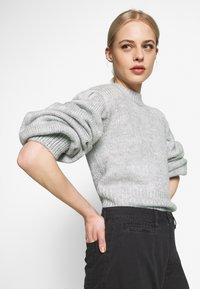 Nly by Nelly - COZY PUFFY SLEEVE - Jumper - grey - 3
