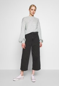 Nly by Nelly - COZY PUFFY SLEEVE - Jumper - grey - 1