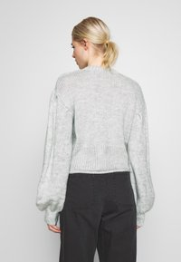 Nly by Nelly - COZY PUFFY SLEEVE - Jumper - grey - 2
