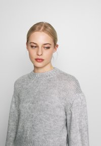 Nly by Nelly - COZY PUFFY SLEEVE - Jumper - grey - 4