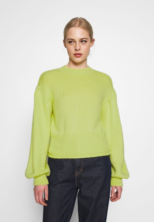 COZY PUFFY SLEEVE - Jersey de punto - lime
