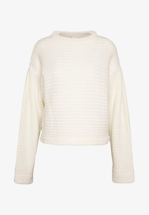 STRUCTURED VOLUME KNIT - Strikkegenser - white