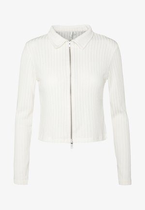 DOUBLE ZIP - Chaqueta de punto - white