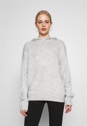 HODDIE - Strickpullover - grey
