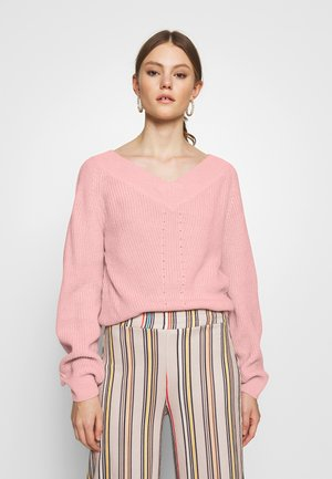 Strikkegenser - light pink