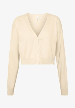 CROPPED - Cardigan - beige