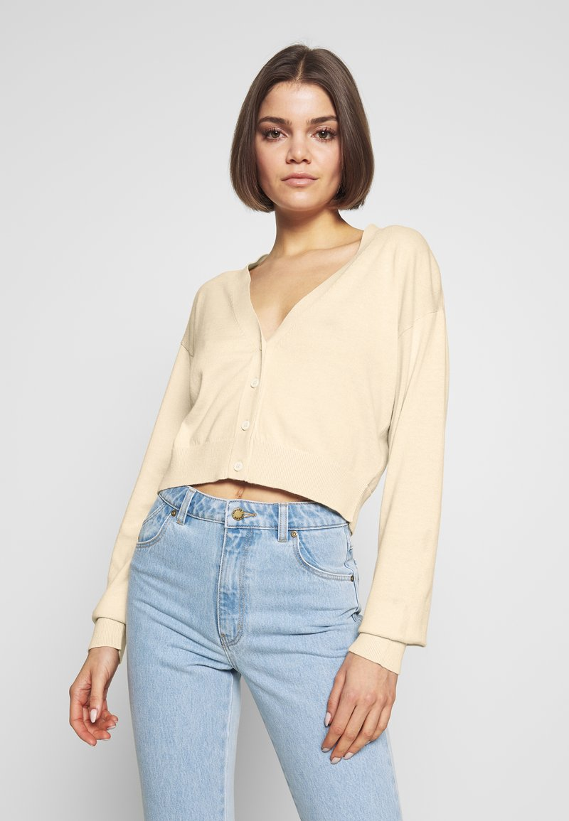 Nly by Nelly - CROPPED - Cardigan - beige