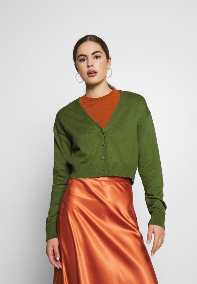CROPPED - Cardigan - green