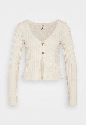 BUTTON DOWN CARDIGAN - Cardigan - creme