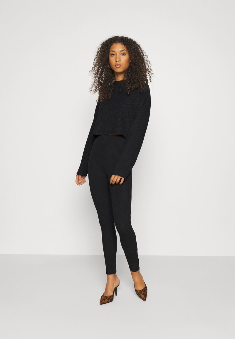 Nly by Nelly - MY FAVOURITE SET - Jumper - black