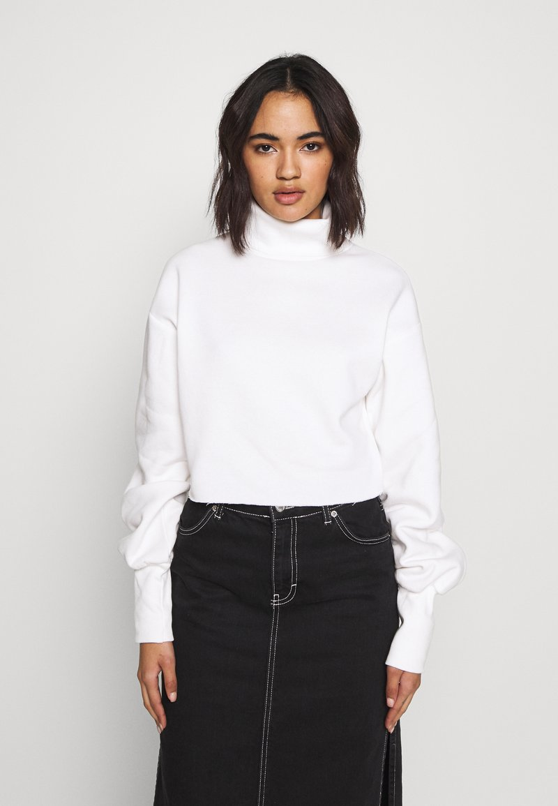 Nly by Nelly - HIGH POLO - Sweater - white