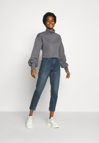 Nly by Nelly - HIGH POLO - Sweatshirt - grey - 1