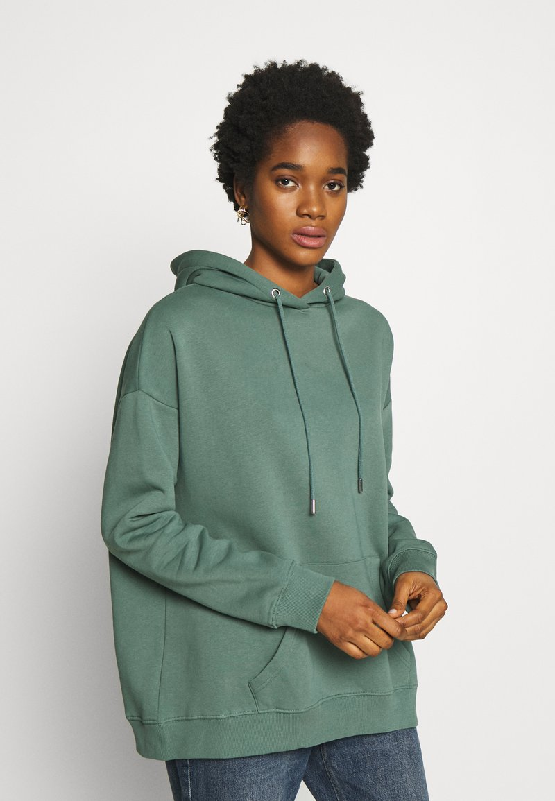 Nly by Nelly - OVERSIZED HOODIE - Bluza z kapturem - green