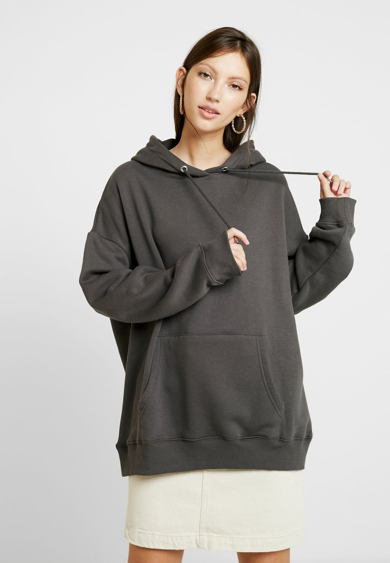 Nly by Nelly - OVERSIZED HOODIE - Hættetrøjer - off black