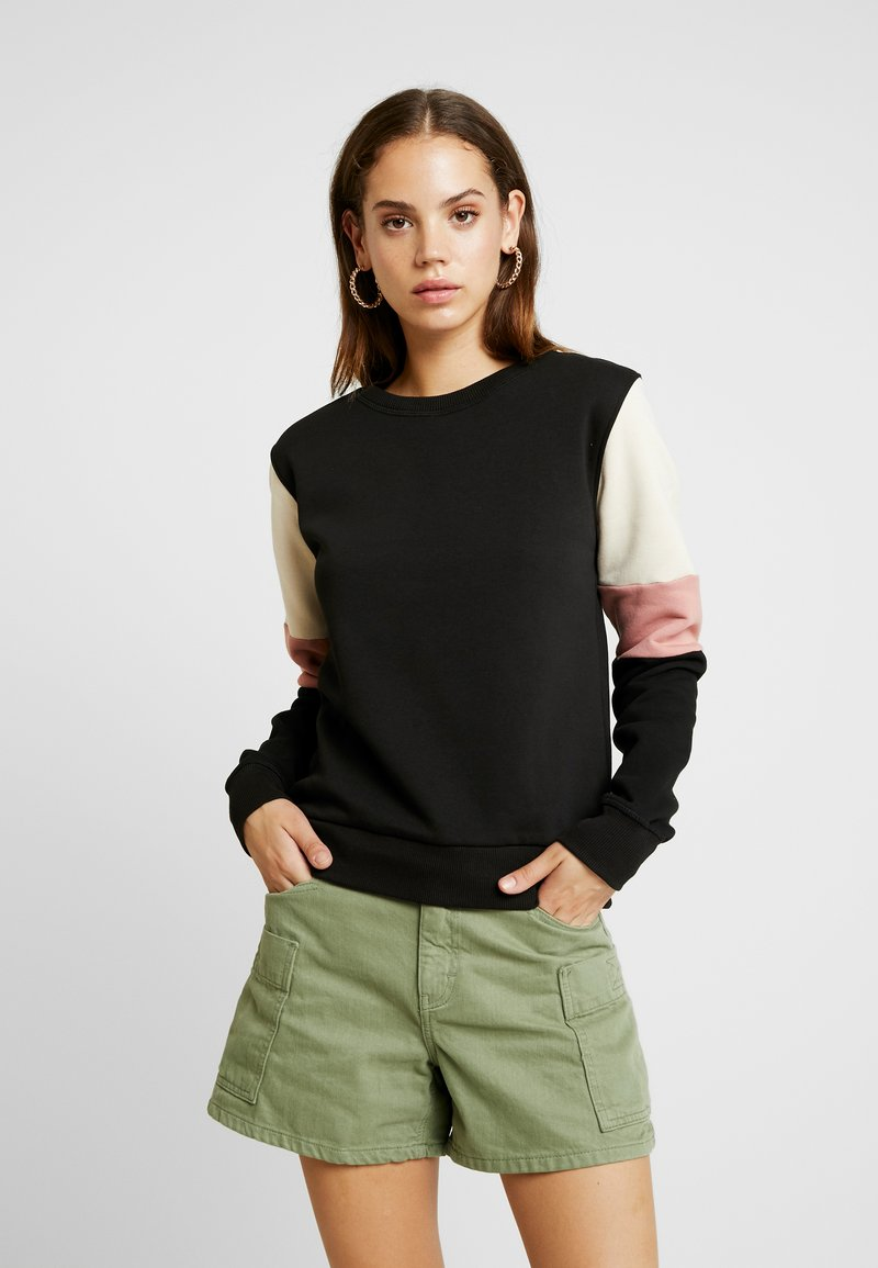Nly by Nelly - COLORBLOCK - Sudadera - black