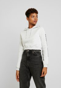 Nly by Nelly - FASHION ADDICT HOODIE - Mikina skapucí - grey mélange - 0