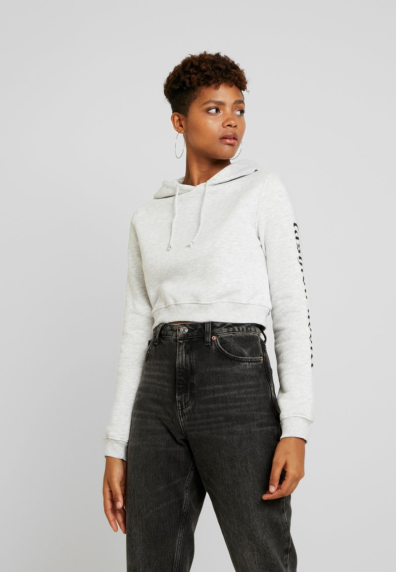 Nly by Nelly - FASHION ADDICT HOODIE - Mikina skapucí - grey mélange