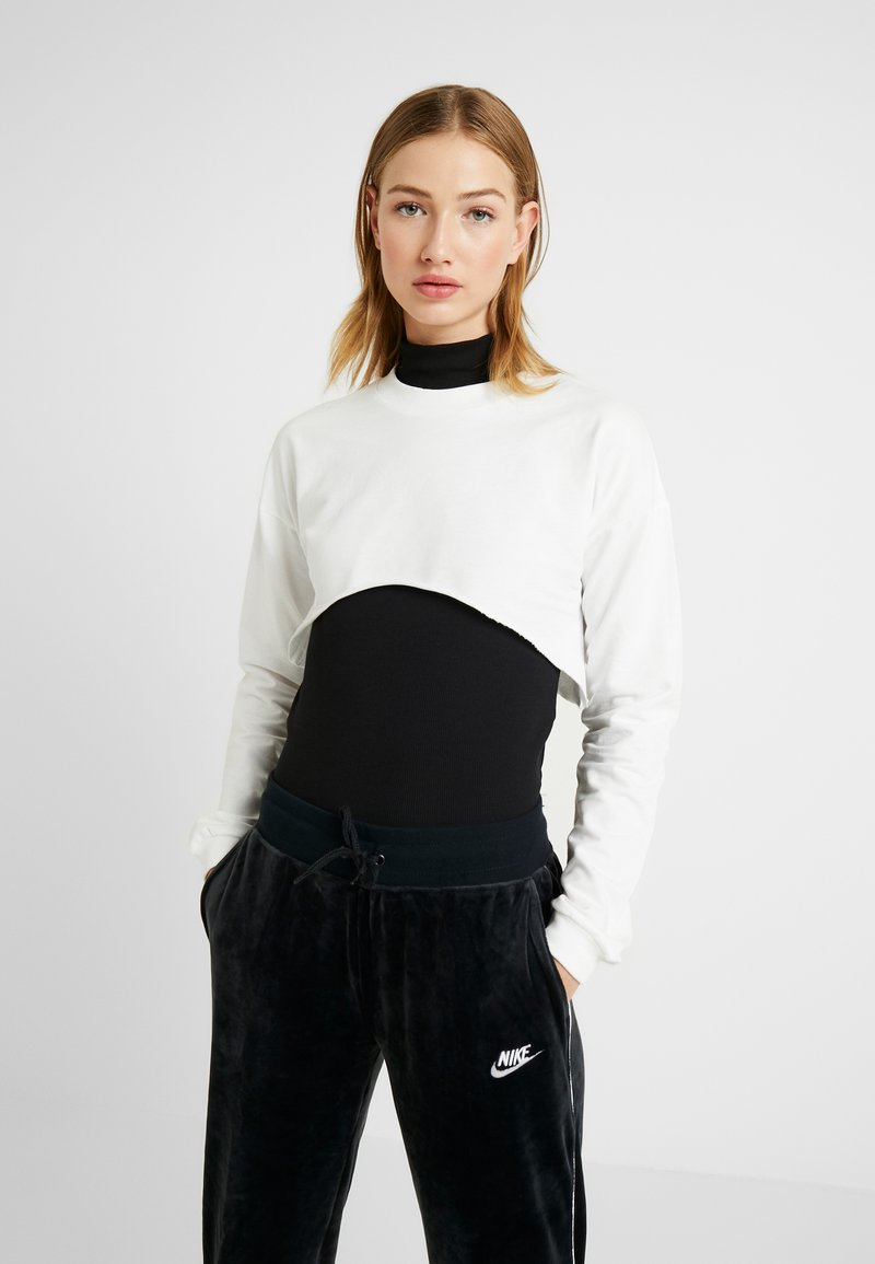 Nly by Nelly - CUT OFF - Sweater - white