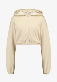 Nly by Nelly - CROPPED ZIP HOODIE - Mikina na zip - beige - 4