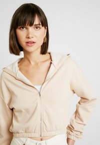 Nly by Nelly - CROPPED ZIP HOODIE - Mikina na zip - beige - 3