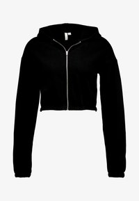 Nly by Nelly - CROPPED ZIP HOODIE - Mikina na zip - black - 4