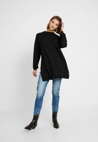 Nly by Nelly - OVERSIZE SLIT - Bluza - black - 1
