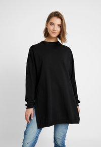 Nly by Nelly - OVERSIZE SLIT - Bluza - black - 0