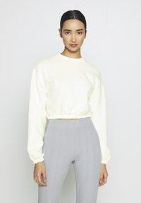 Nly by Nelly - PUFF CROP - Felpa - white - 0