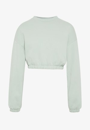 PUFF CROP - Sweatshirt - pistachio