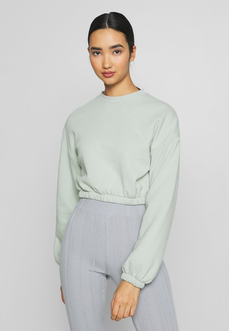 Nly by Nelly - PUFF CROP - Sweatshirt - pistachio