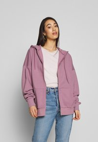 Nly by Nelly - CHUNKY ZIP HOODIE - Felpa aperta - light purple - 0