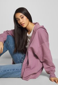 Nly by Nelly - CHUNKY ZIP HOODIE - Felpa aperta - light purple - 3