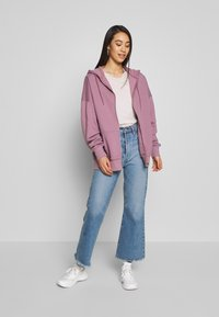 Nly by Nelly - CHUNKY ZIP HOODIE - Felpa aperta - light purple - 1