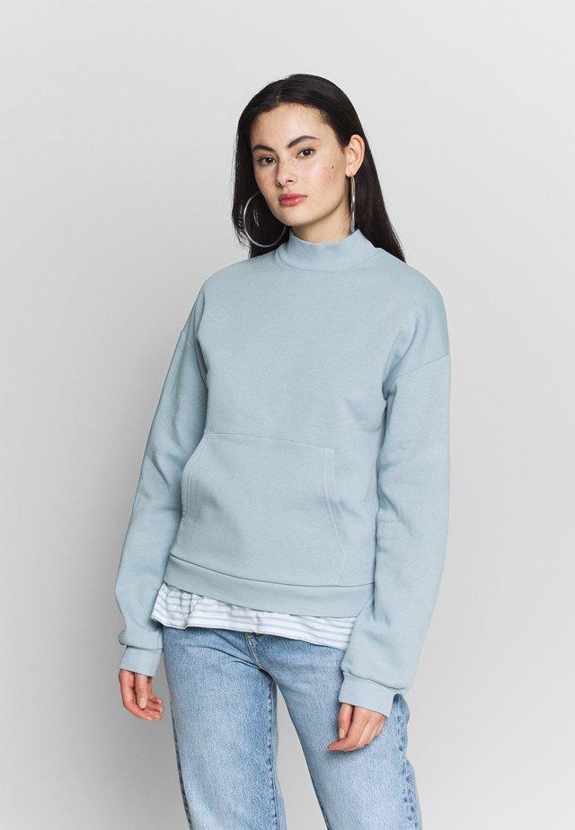 COZY POCKET  - Sweater - blue/gray