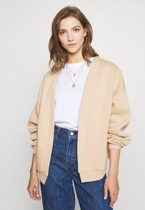 PERFECT CARDIGAN - Mikina na zip - beige