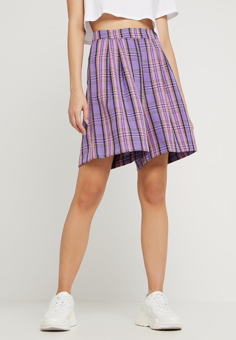 Nly by Nelly - COLOURFUL CHECK SHORTS - Shorts - purple