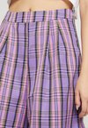Nly by Nelly - COLOURFUL CHECK SHORTS - Short - purple