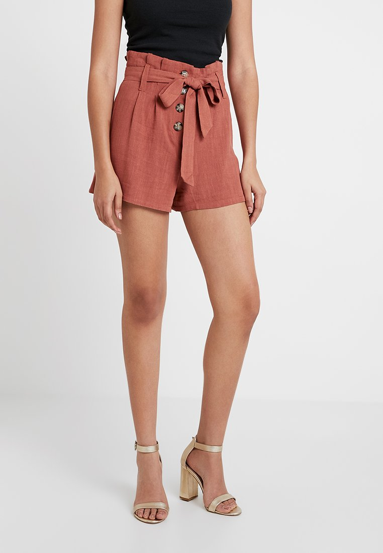 Nly by Nelly - TIE WAIST - Shorts - rust