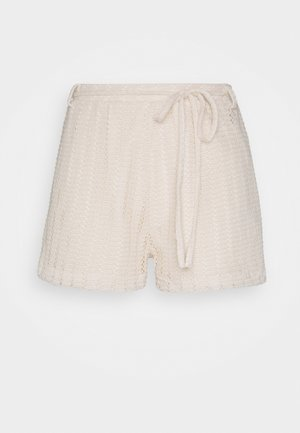 CUTE CROCHET SHORTS - Shorts - beige