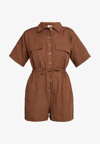 Nly by Nelly - WORKWEAR PLAYSUIT - Overal - brown - 4